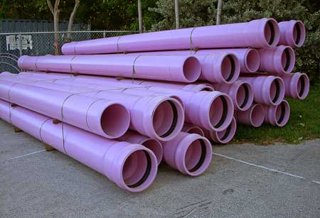 pink sewer pipes