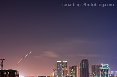 Space Shuttle Over Miami