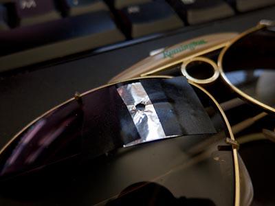 improvised aperture on shooting glasses