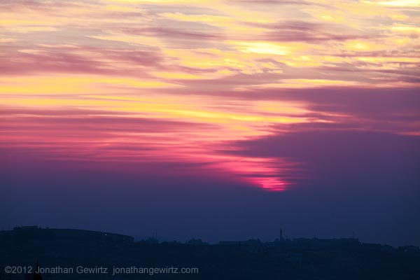 Sunrise Over Village of Abu Dis