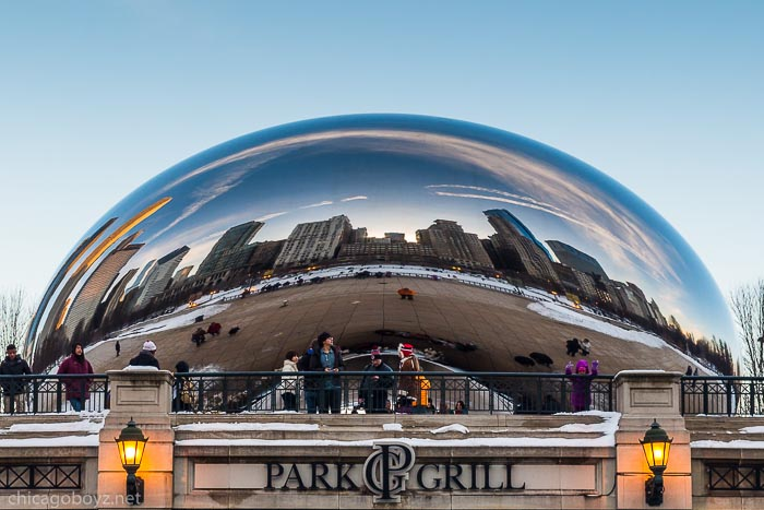 Chicago Skyline Reflected in Bean
