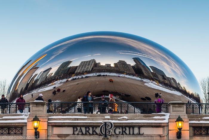 Chicago Skyline Reflected in Bean