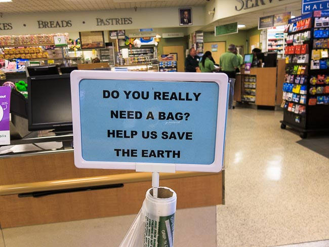 save the bags