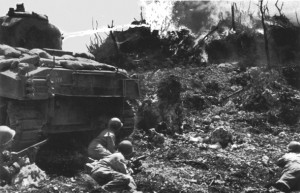This is a Hawaii built Flametrower of the 713th Flame Tank Battalion on Okinawa.