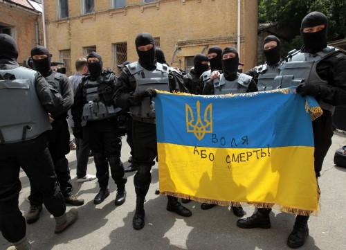 I am now dead, but my spirit will live on, in Ukraine -- Freedom of Death -- Azov Battalion swearing in ceremony