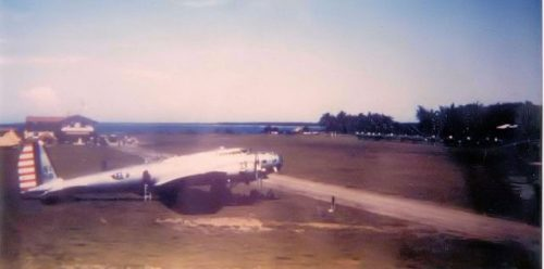 This is a B-17D on Iba Field, Luzon province, the Philippines, in Oct 1941. Clearly shown are the lack of .50 Caliber tail guns or powered gun turrets of later model B-17s. This lack of armament made these bombers easy prey for A6M Zero fighters.