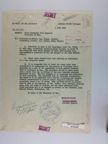Biowar July 1945