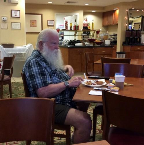 Breakfasting Santa