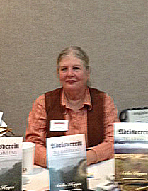 Celia at Weinachtsmarkt 2012 -At the Author Table