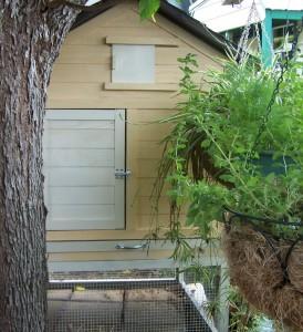 The door side of the coop