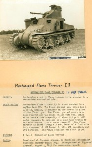 E3 Flame thrower in M3 General Grant Medium Tank