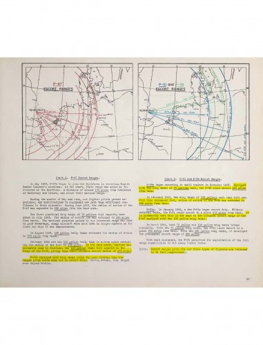 8TH AIR FORCE ESCORT FIGHTER RANGE CHART