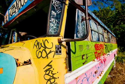colorful bus