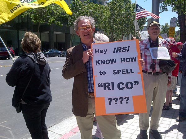 IRS and RICO sign in San Jose