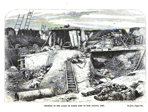 Interior of the Fort after British Artillery Bombardment