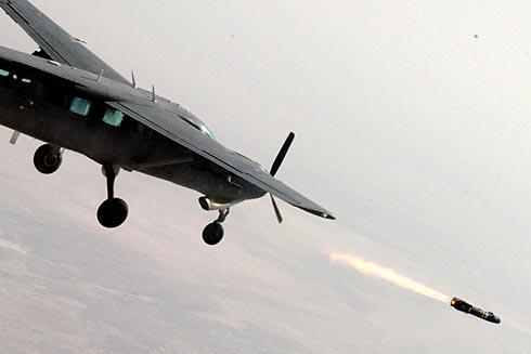 Iraqi AC-208B Fires Hellfire