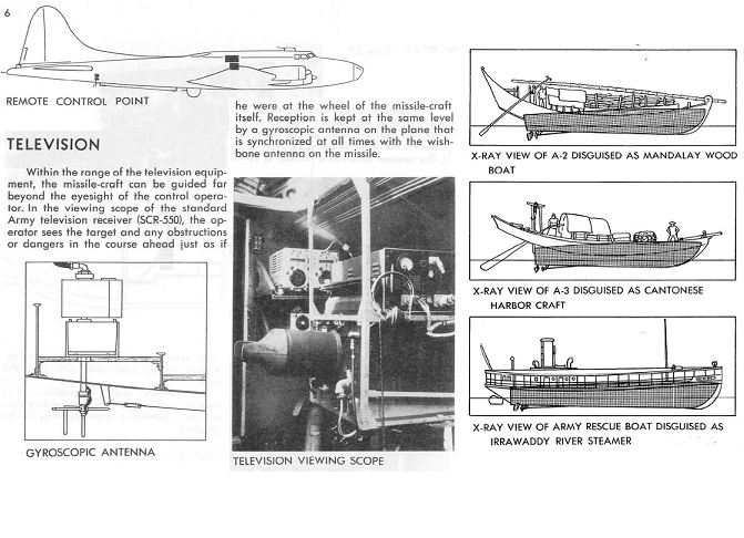 Project Campbell B-17 control plane, plus alternate boat bomb missile, configurations