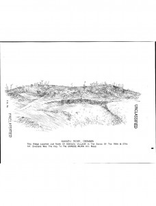 A military drawing of KAKAZU RIDGE, OKINAWA  taken from the XXIV Corps After Action Report