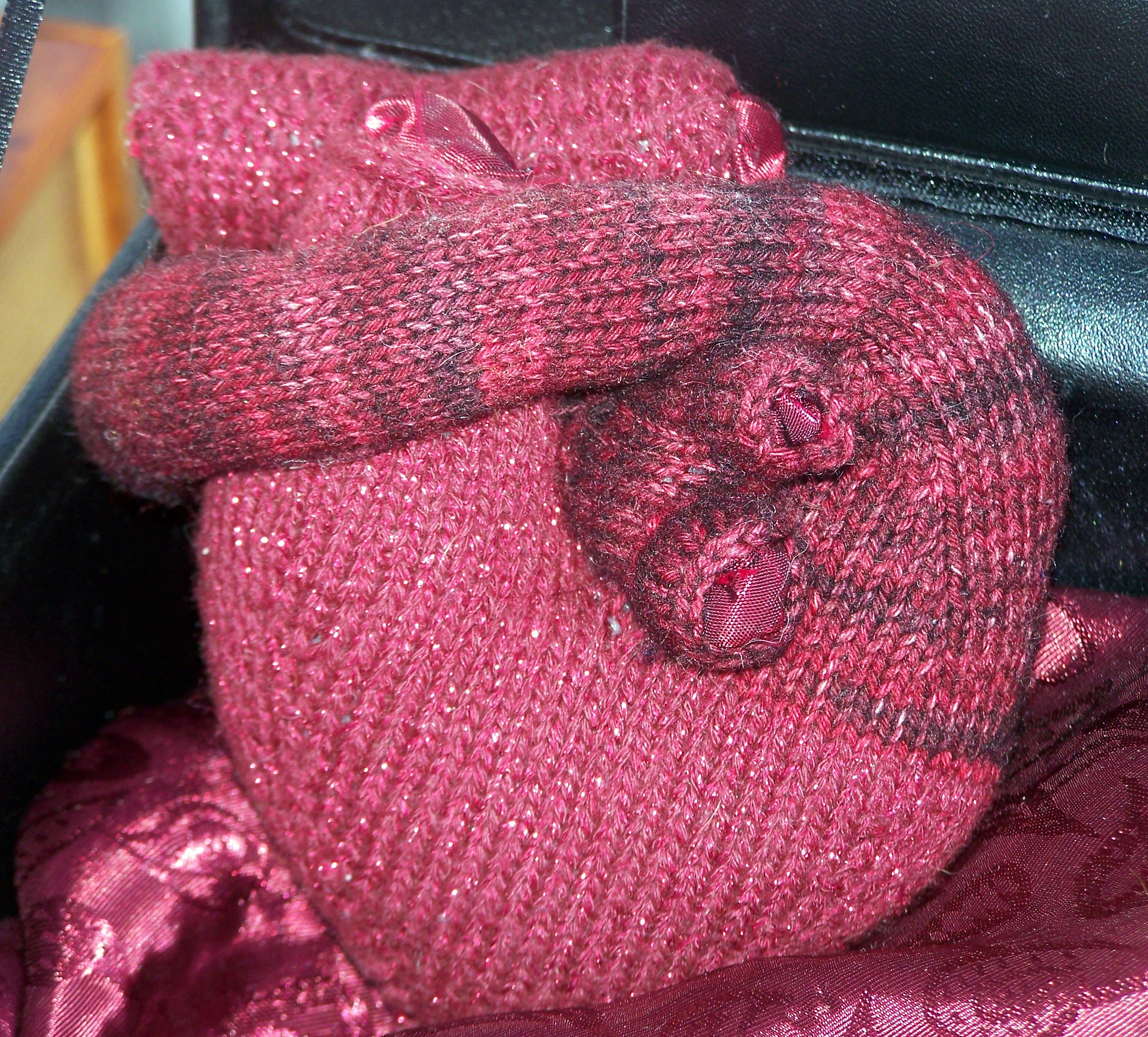 Knitted Anatomically Correct Heart