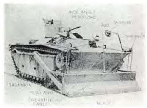 Prototype LVT(A)1 with Bulldozer Blade Kit