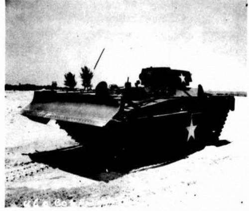 LVT(A)4 Amphibious Tank with Bulldozer Kit Installed