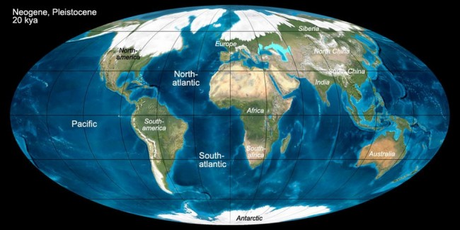 Last Glacial Maximum, 20.000 years ago