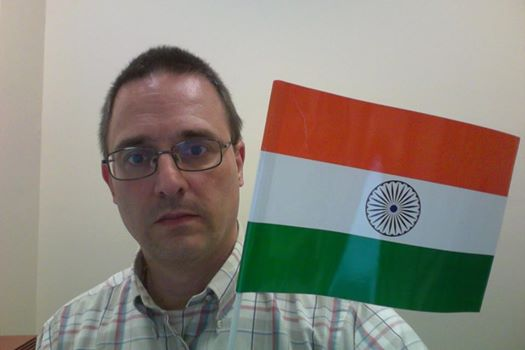Lex with Indian Flag