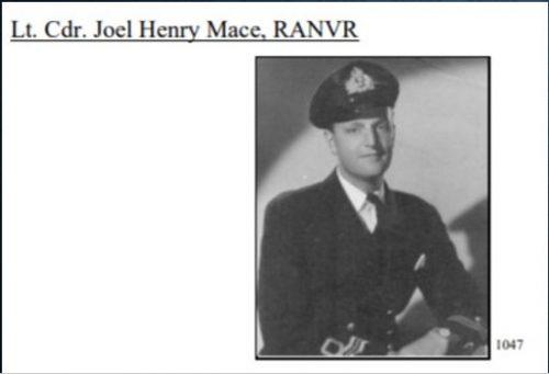 Lt Cmdr Joel Mace