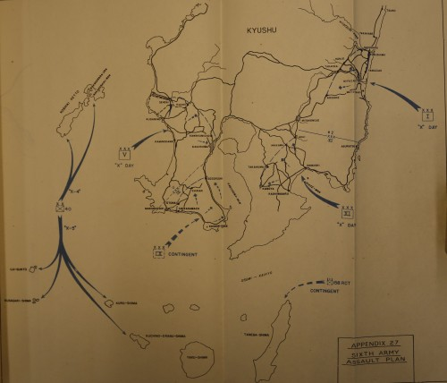 Map of the 6th Army Operation Olympic Assault Plan