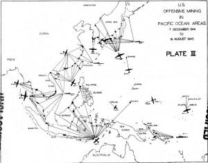 WW2 Sea Mine Deployment in the Pacific Theater.