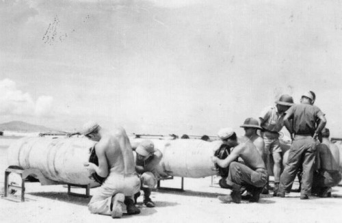 Naval Mines made ready for B-29 delivery in 1945