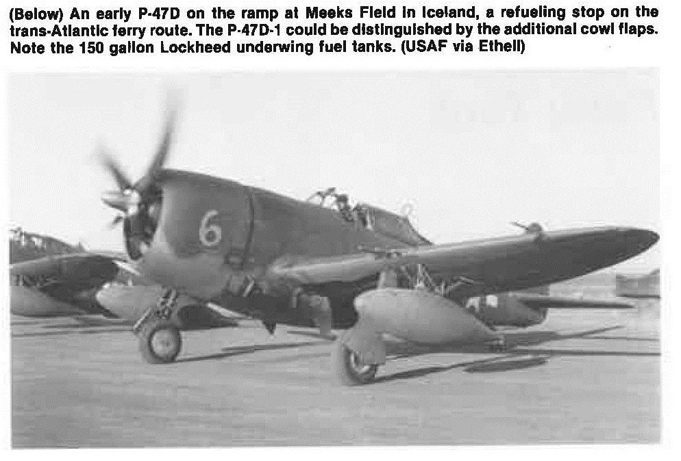 P-47D w-150-gal fuel tank