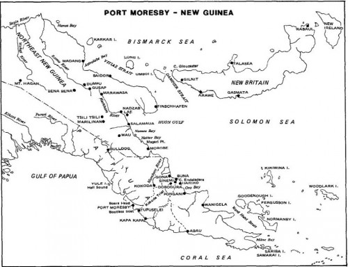 PORT MORESBY & SOUTHERN NEW GUINEA AREA Source: Air Warfare and Air Base Air Defense 1914-1973, AFD-100922-032