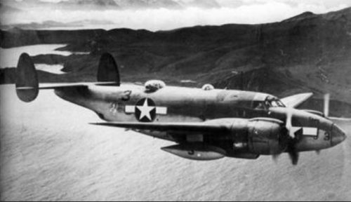 US Navy PV-1 Ventura Patrol bomber with 150-gallon Sargent Fletcher drop tank.