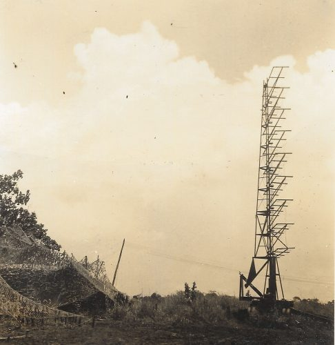 This is the MAG-23 SCR-270 radar in position on Guadalcanal. There was an identical 3rd Marine Defense Battalion SCR-270 on Guadalcanal as well. There was very little coordination between the two radars for most of the time MTSgt MacDonnell was on Guadalcanal.