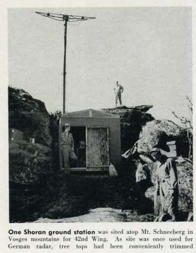This is a photograph of a Shoran radar beacon ground station taken from page 48, RADAR, Number 10, 30 June 1945, Office of the Air Communications Officer HQ Air Forces Wash D.C.