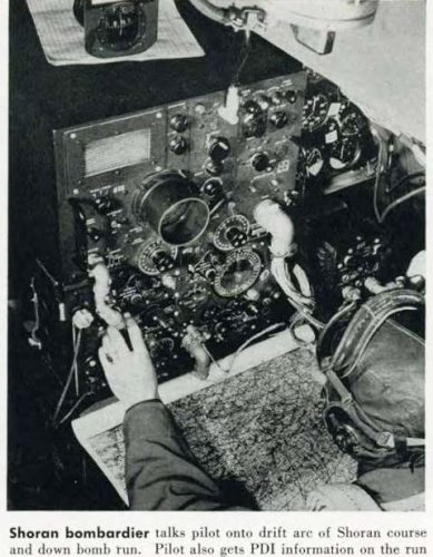 This is a ptotograph of a B-26 Marauder Shoran console taken from page 50, RADAR, Number 10, 30 June 1945, Office of the Air Communications Officer HQ Air Forces Wash D.C.