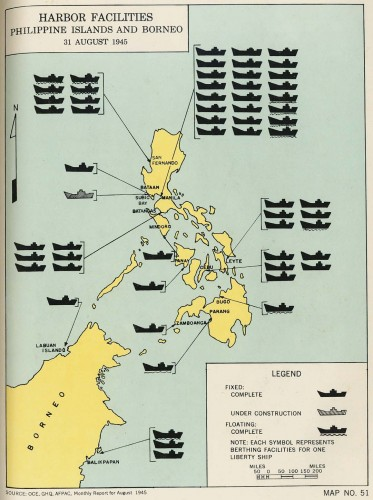 Philippine Harbor Facilities 31 August 1945