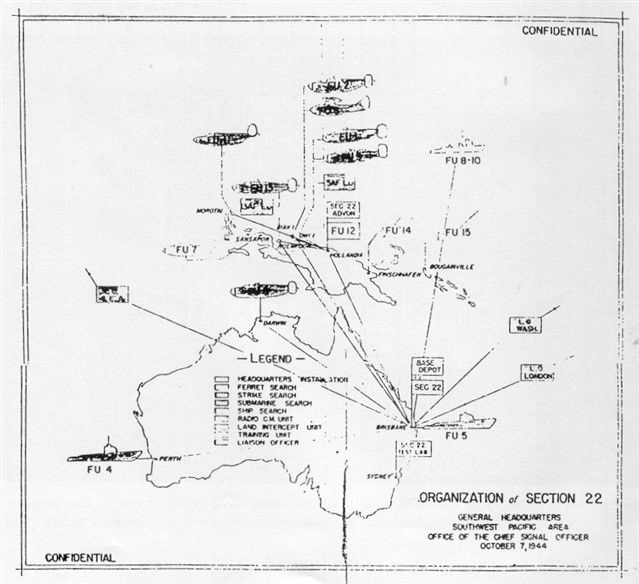 The order of battle of MacArthur's Section 22 Radar Hunters as of October 7, 1944.