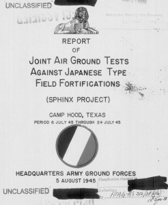 The Sphinx Report coverpage for the Camp Hood Exercises