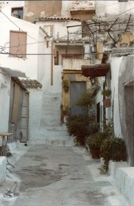 A Street in the old Plaka - the neighborhood on the billside below the Parthenon