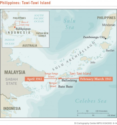 <strong>Field Unit 12 Sulu Archipelago Ops Map, Feb-Apr 1945 </strong> -- Studies in Intelligence Vol 58, No. 3 (September 2014)