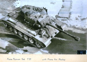 T35 Flamethrower in M26 Pershing Tank