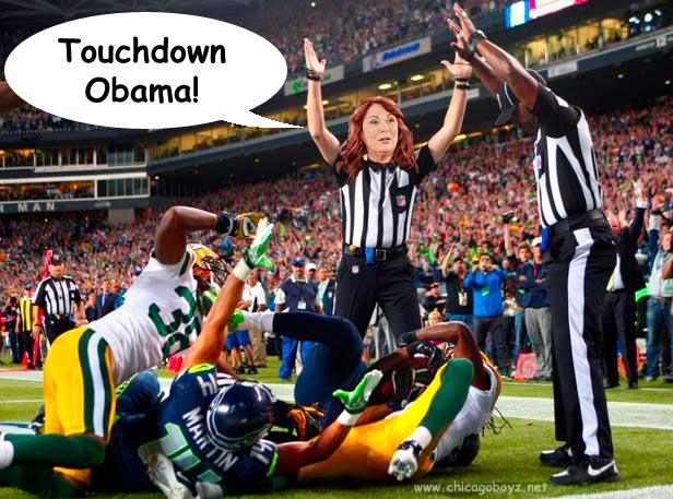 Touchdown Obama