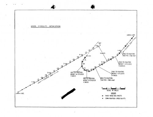 """Perfect"" Daytime Fighter Direction Plot example -- Source: U. S. Pacific Operation Plan No. Cen 1-43 (Operation Galvanic)"