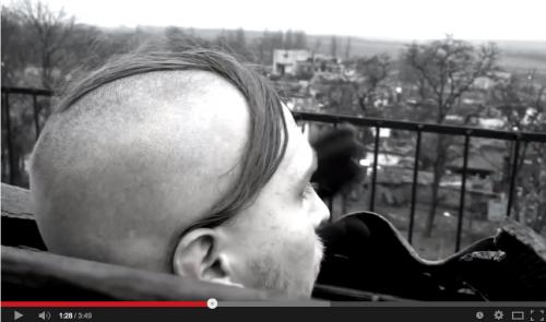 A modern version of Prince Sviatoslav I's 'side lock' hair cut.