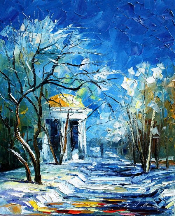 Winter Perspective Leonid Afremov