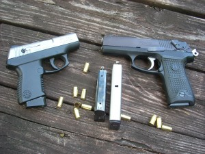 both-9mm-carry-guns-with-spent-brass-and-loaded-magazines