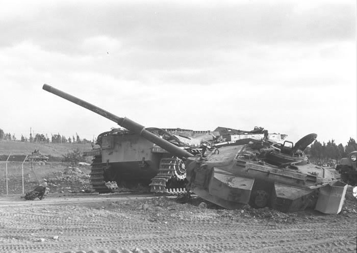 Dead IDF Centurion Tank on the Golan Heights