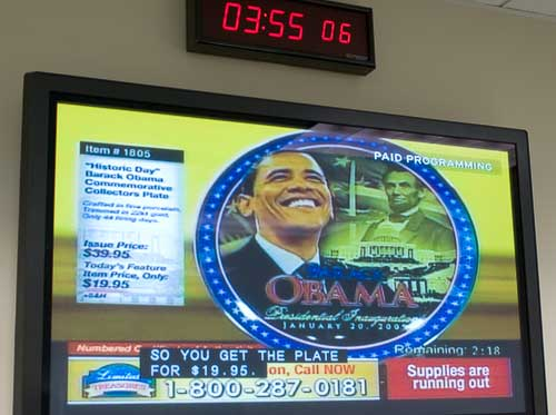 Obama commemorative plate
